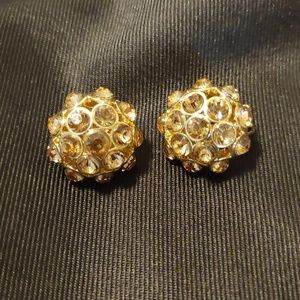 Rhinestone clip earrings. NWOT